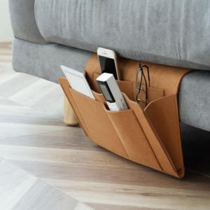 Bedside Organizer Bag Holder with 5 Pockets,Felt Hanging Storage Organizer for Bed