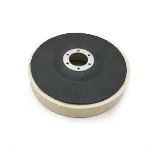 Felt wheel with glass fiber