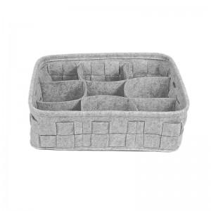 Drawer Divider Room Organization for Wardrobe,Grey Foldable felt Storage Box