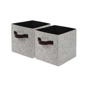 Foldable Cube Storage Bins with PU Handles