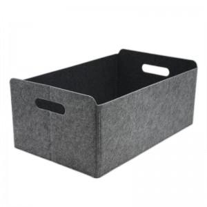 Felt Hard Storage Bin Box For Bedroom