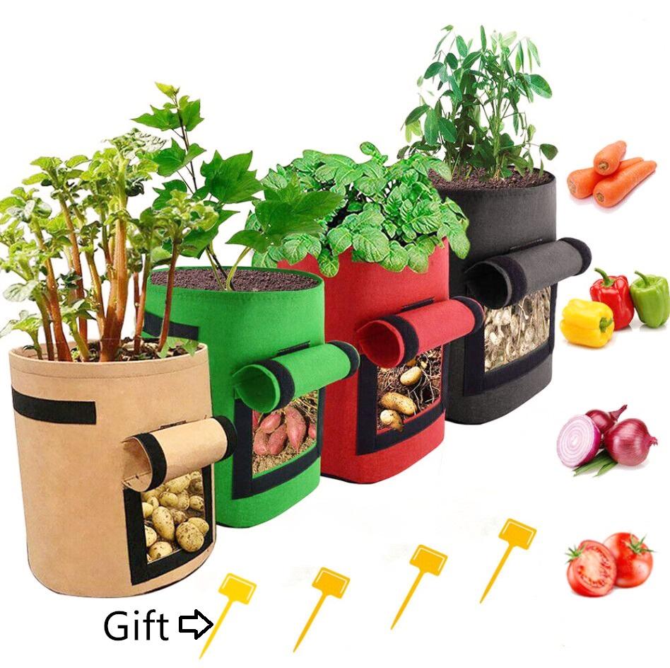 Felt Potato Grow Pot Eco-friendly Potato Planter Felt Grow Bags Featured Image