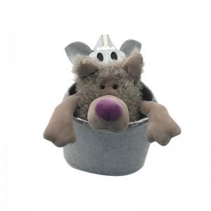 Felt pig shape storage basket for kids