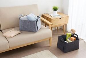 Bedroom office decoration Foldable Felt Storage Basket for Toys Laundry