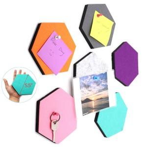 stiff polyester felt Hexagon Board for Photos,Memos