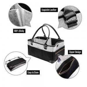 Felt Storage Babby Diaper Caddy Bag