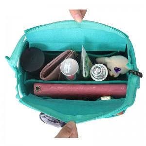 New design Multi Pocket Bag in Bag Organizer Felt Fabric insert bags For Speedy 25 30 35 40