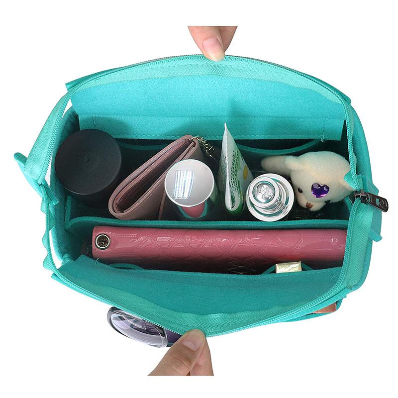 Hot-selling Organic Wool Felt - New design Multi Pocket Bag in Bag Organizer Felt Fabric insert bags For Speedy 25 30 35 40 – Rolking