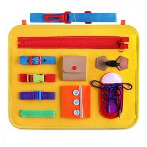 Baby Basic Skills Activity Board Preschool Educational Learning Toys Fine Motor Montessori Sensory Boar