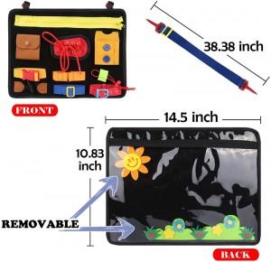 Busy Board for Toddler Sensory Toys Montessori Basic Skills Activity Board