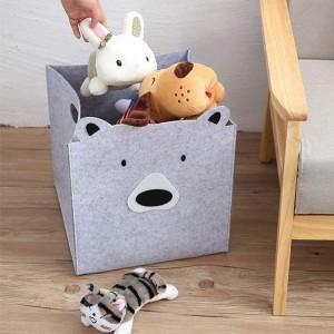 felt animal basket