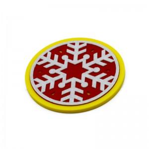 Christmas Felt silicone coaster