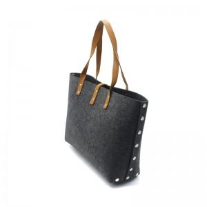 100%  Polyester Felt Bag Woman Handbag Polyester Wool Felt Tote Bags For Shopping