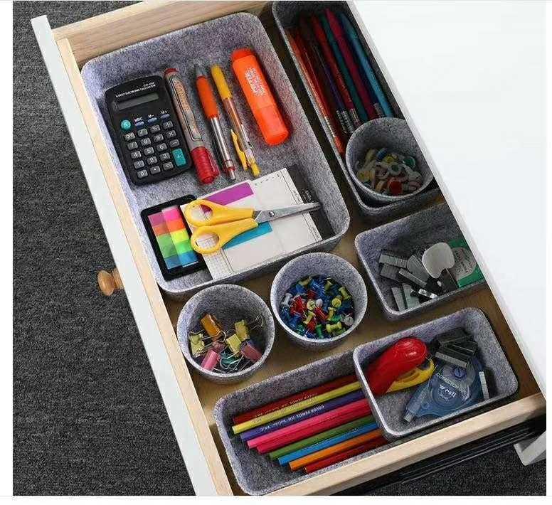 High Quality Non Woven Storage Baskets - Office Drawer Organizers Trays Felt Storage Bins Drawers dividers Organizer bin – Rolking