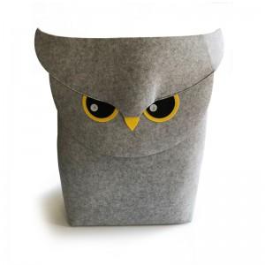 Owl Felt Laundry Storage Basket