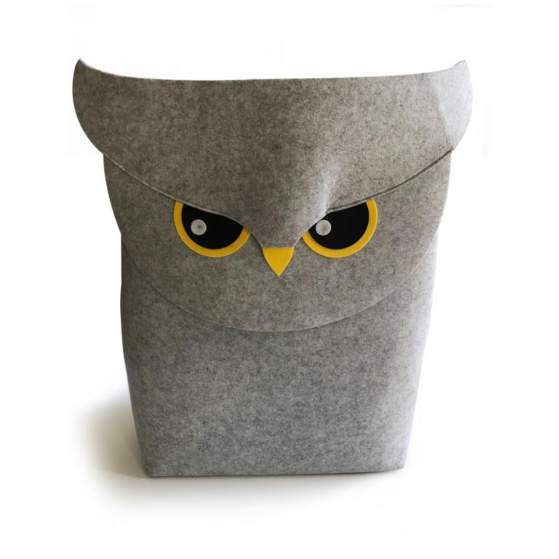 Owl Felt Laundry Storage Basket Featured Image