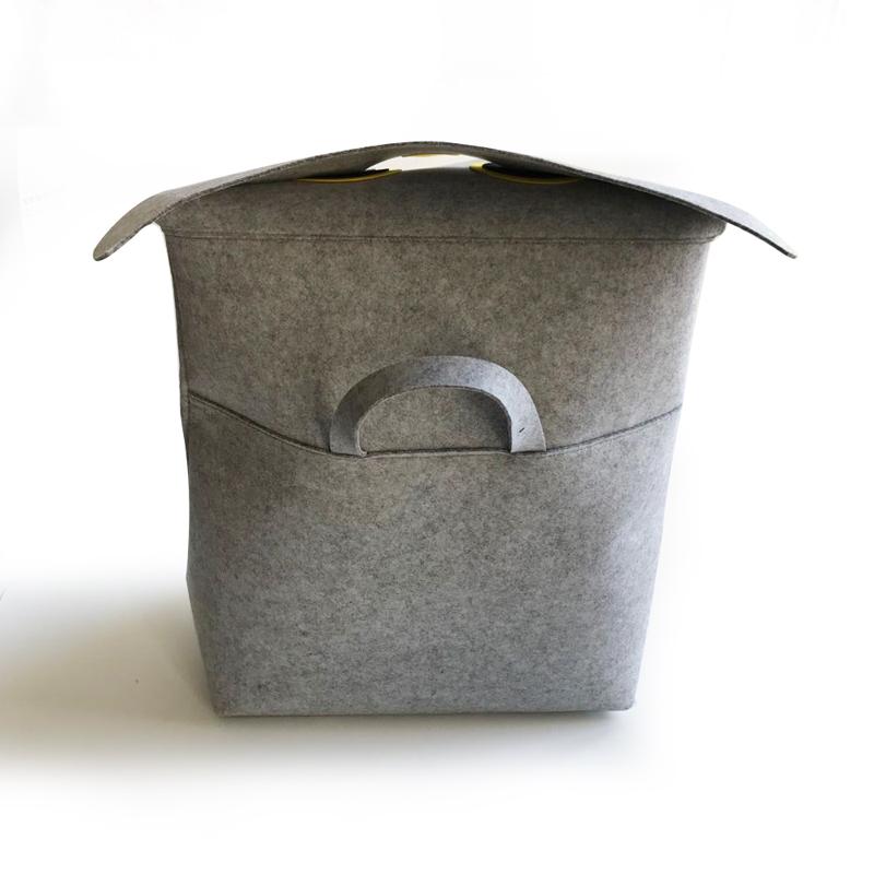 Owl Felt Laundry Basket1