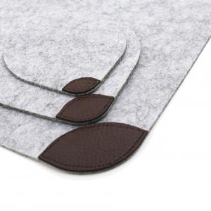 Kitchen Table Felt & Leather Placemats