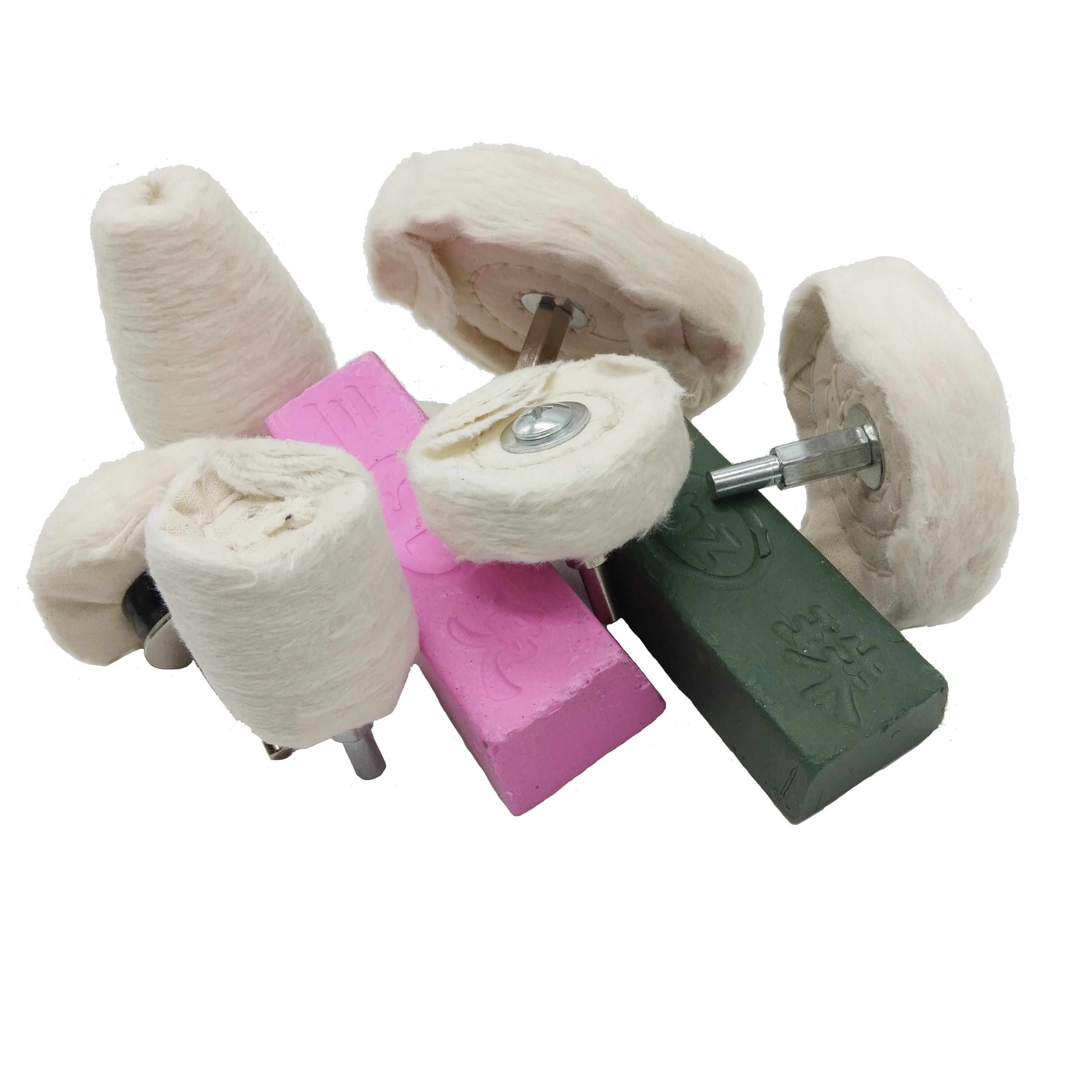 Thick Cotton White cotton cloth polishing wheel set Featured Image