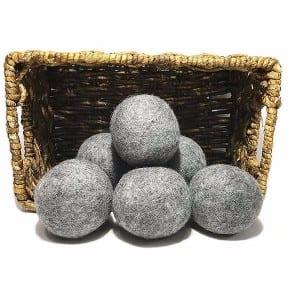 Gray Wool Dryer Balls