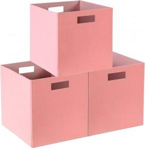 Cube felt storage basket foldable