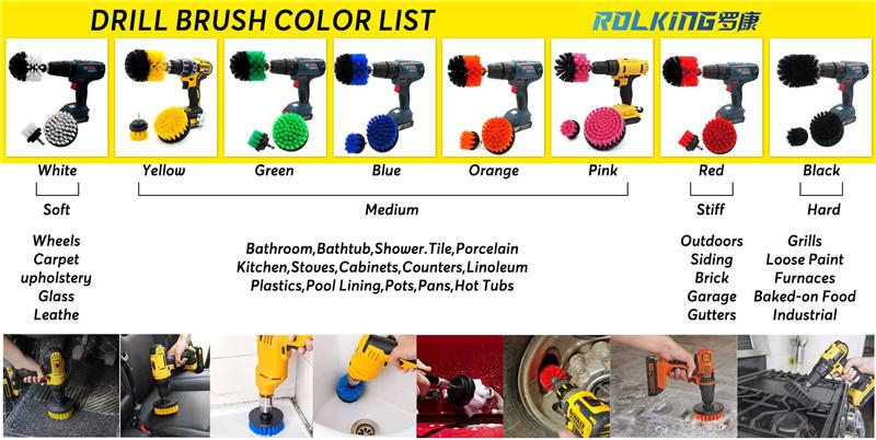 drill brush color list