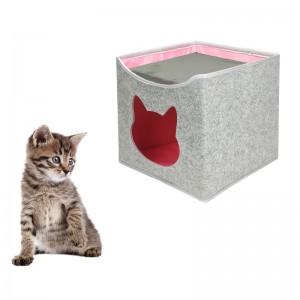 Cat Bed House Felt Cat Cave