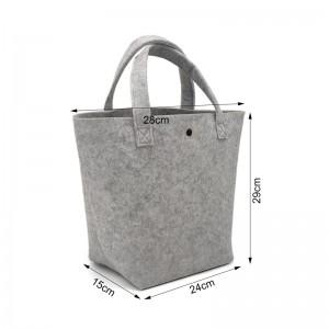 Polyester Felt Bag Woman Handbag Polyester Wool Felt Tote Bags For Shopping