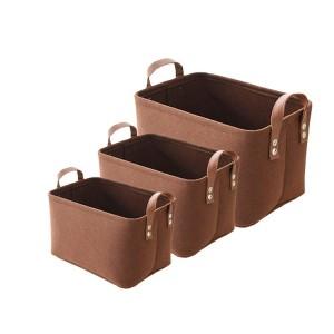 Decorative Hand-held Felt Storage Basket for Sundries Storage in Room