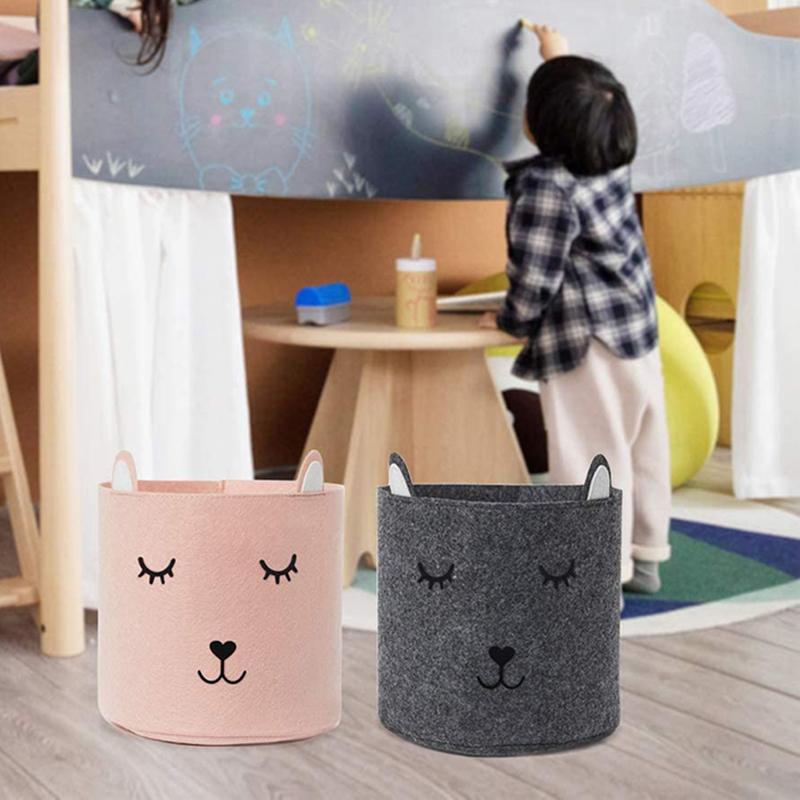 2020 Good Quality Felt Storage Basket - Felt Laundry Basket for Children – Rolking