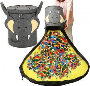 Kids Toys Storage Bin Felt Storage Basket with Lid