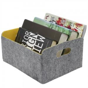 Custom felt storage basket for home storage