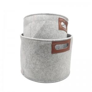 AZO FREE purpose felt basket new design small storage basket for organizer