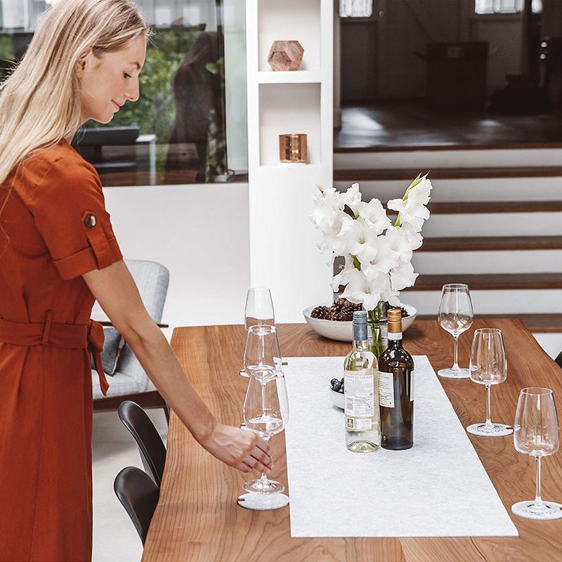 Modern Table Runner Gray Table Decor