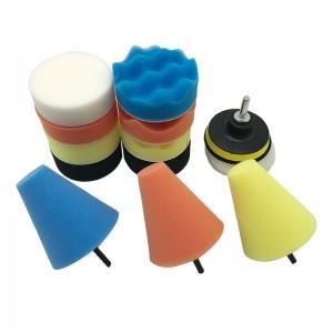 14pcs foam and wool polishing pad kits