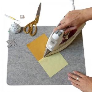 Wool ironing mat