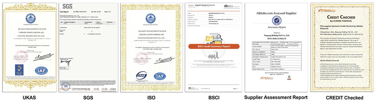 rolking certificates