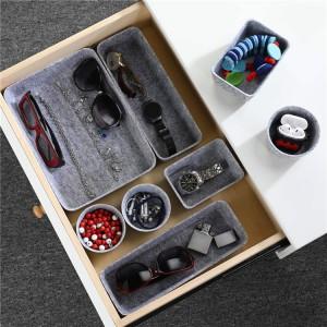 8pcs polyester felt drawer divider felt storage boxes