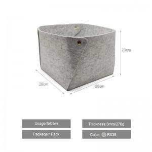 Big Size Collapsible Felt Box Felt Storage Basket
