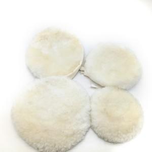 car polishing lamb wool bonnet with string