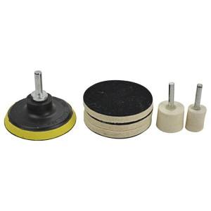 Wool Felt Wheel Abrasive Sets for Glass Polishing